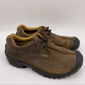 KEEN brown leather shoes, women's 8, 38.5.